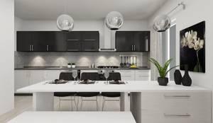 PRATIKIZ MIMARLIK/ ARCHITECTURE – Mutfak:  tarz Küçük Mutfak