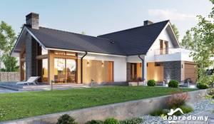 Projekt domu Orchidea: styl , w kategorii Domy zaprojektowany przez 'Dobre Domy Flak&Abramowicz' Sp. z o.o. Sp.k.