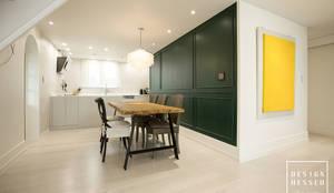 대전 어은동 한빛아파트 51평-거실, 주방: 디자인 헤세드의  주방
