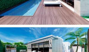 Zona de piscina con jacuzzi: Jacuzzis de estilo  de Tono Lledó Estudio de Interiorismo en Alicante