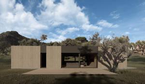 casa in legno contemporanea: Casa di legno in stile  di ALESSIO LO BELLO ARCHITETTO a Palermo