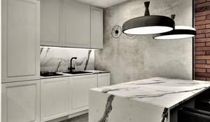 Aneks kuchenny: styl , w kategorii Małe kuchnie zaprojektowany przez Wkwadrat Architekt Wnętrz Toruń