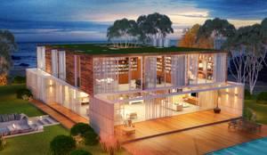Casa da Árvore: Casas  por Viviane Cunha Arquitetura
