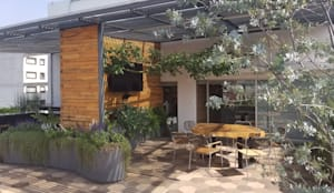 Sala de juntas exterior: Terrazas de estilo  por Huatan