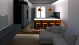 ZONA LIVING: Cucina attrezzata in stile  di G&S INTERIOR DESIGN