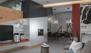 Design & Render Zona Living e Sala da Pranzo: Soggiorno in stile  di Santoro Design Render