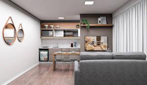 Sala de Estar Integrada: Salas de estar  por Projeto 3D Online