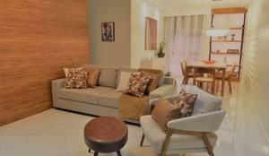 Conforto e elegância: Salas de estar  por Biancardine Interiores