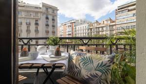 Home Staging barrio Salamanca: Balcón de estilo  de MEXID INTERIORISMO