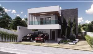 Fachada Moderna: Condomínios  por Juan Jurado Arquitetura & Engenharia
