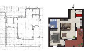 Planimetria Realistica di un Appartamento in Vendita: Case in stile  di Planimetrie Realistiche