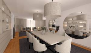 Sala de Jantar - Ponte de Lima: Salas de jantar  por MIA arquitetos