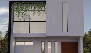 Fachada: Casas pequeñas de estilo  por Helicoide Estudio de Arquitectura