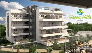 Infografía 3d exterior conjunto residencial: Casas de estilo  de Infografias 3D y Renders 3D Madrid