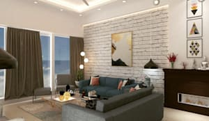 Renovation:  Living room by Maayish Architects