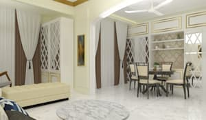 Living and Dining:  Dining room by Jamali interiors