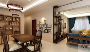 LIVING AREA:  Living room by Matter Of Space Pvt. Ltd.