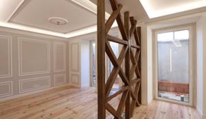 Sala de estar acolhedora e moderna: Salas de estar  por Lisbon Heritage