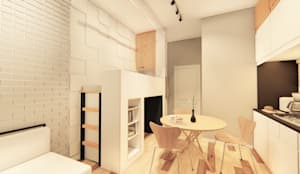 Hazni's SOHO :  Kitchen by LI A'ALAF ARCHITECT, Minimalist