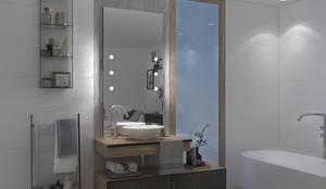 Specchi con tecnologia iLight: Spogliatoio in stile  di Unica by Cantoni, Moderno