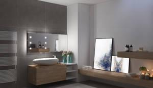 Specchi con tecnologia iLight: Spogliatoio in stile  di Unica by Cantoni