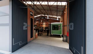 Cúster Gastronómico - Bodega 20: Comedores de estilo  por Arquitectura AD, Moderno