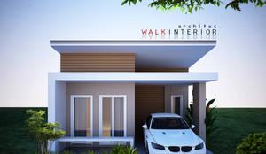 บ้านเดี่ยว:  บ้านขนาดเล็ก โดย walkinterior , โมเดิร์น คอนกรีต
