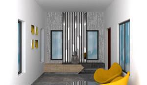 Foyer :  Corridor & hallway by Olive Architecture Studio