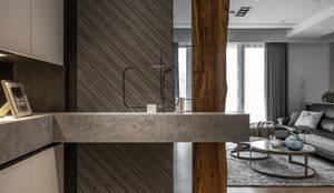 玄關:  走廊 & 玄關 by 木博士團隊/動念室內設計制作, 現代風