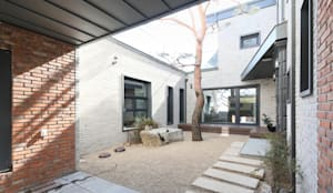 암사동 중정주택 포림재 중정: 주택설계전문 디자인그룹 홈스타일토토의  젠 가든,모던 돌