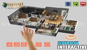 Casas pequeñas de estilo  por Yantram Architectural Design Studio,