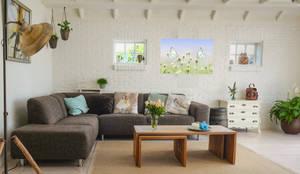 woonkamer verwarming:  Woonkamer door Heat Art - infrarood verwarming, Modern