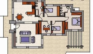 Diamoci un'idea - una planimetria semplice: Casa di campagna in stile  di Sabina Casol - Architetto,