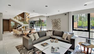 CASA POLANCO: Salas de estilo  por PEONIA INTERIORES,