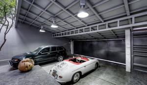 CASA POMPEYA : Garajes prefabricados de estilo  por Con Contenedores S.A. de C.V.,