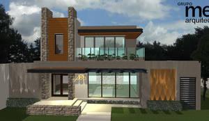 Fachada principal: Casas unifamiliares de estilo  por grupo ME Arquitectos,