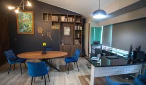 LIBRERO EN OFICINA CLUB OLIMPIA EN URUAPAN MICHOACAN : Estudios y oficinas de estilo  por La Central Cocinas Integrales S.A de C.V,