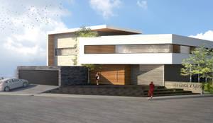 : Casas unifamiliares de estilo  por aaestudio,