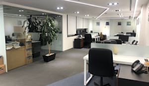 Oficinas Hoerbiger México : Oficinas y tiendas de estilo  por EA ARCHITECTURE & FURNITURE,
