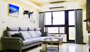 客廳與陽台連接:  陽台 by 藏私系統傢俱, 簡約風