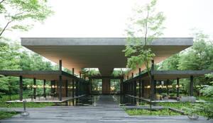 Lobby Exterior: Casas de estilo  por T + T arquitectos,Moderno