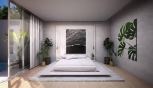 Cama Matrimonial: Dormitorios de estilo  de S-AART, Minimalista