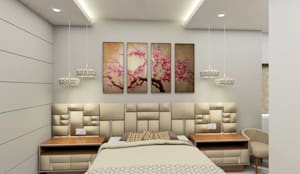 Swanky Impression- Guest Bedroom:  Bedroom by Tanish Dzignz,Modern