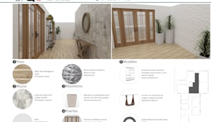 Pasillo y hall: Pasillos y hall de entrada de estilo  por ARQD spa, Escandinavo Madera Acabado en madera