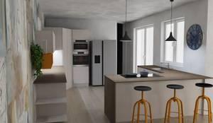 Cucina Moderna Trento: Cucina in stile  di G&S INTERIOR DESIGN, Industrial