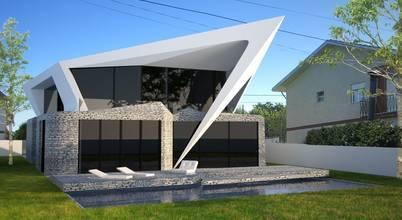 Habitação Unifamiliar Isolada T4 - o Tempo e a Sensação: Casas  por Office of Feeling Architecture, Lda,Moderno