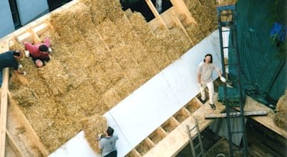 Sử dụng rơm cách nhiệt, ngôi nhà cải tạo mới thoáng mát khó tin