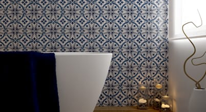Ceramic bathroom tiles, handmade in Italy