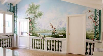 erica de rosa, dipinti, affreschi, trompe l'oeil,  decorazioni—Venezia