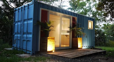 shipping container architecture plans
